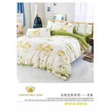5 in 1 Set Quality 800TC Bicycle Bedding Bed Sheet Queen King Size