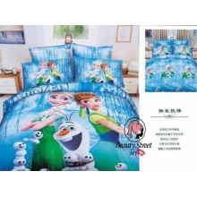 5 in 1 Set Quality 800TC Frozen Bedding Bed Sheet Queen King Size