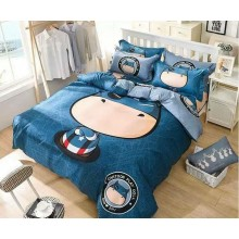 5 in 1 Set 800TC Captain America Bedding Bed Sheet Queen King Size