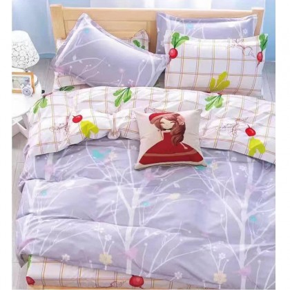 6 in 1 Set Quality 800TC Cute Girl Bedding Bed Sheet Queen King Size