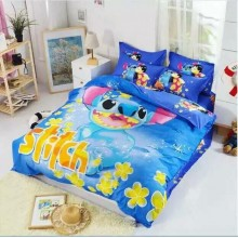 6 in 1 Set Quality 800TC Cartoon Stitch Bedding Bed Sheet Queen King Size