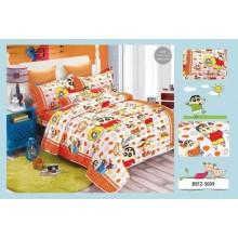 5 in 1 Set Quality 800TC Shinchan Bedding Bed Sheet Super Single Size