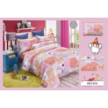 4 in 1 Set High Quality 800TC Big Hero Bedding Bed Sheet Super Single Size
