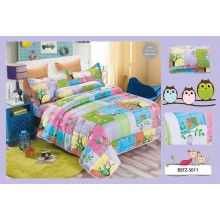5 in 1 Set High Quality 800TC Owl Bedding Bed Sheet Super Single Size