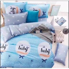 6 in 1 Set Quality 800TC Oh Baby Blue Bedding Bed Sheet Queen King Size