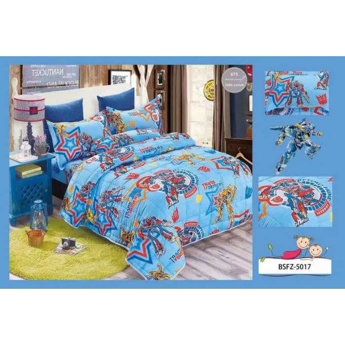 4 In 1 Set High Quality 800TC Transformer Bedding Bed Sheet Super Single  Size