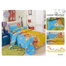 4 in 1 Set Quality 800TC Winnie The Pooh Bedding Bed Sheet Super Single Size