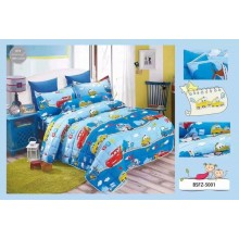 4 in 1 Set High Quality 800TC Disney Cars Bedding Bed Sheet Super Single Size