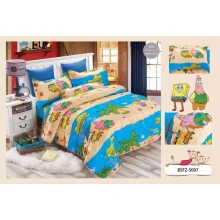 4 in 1 Set High Quality 800TC SpongeBob Bedding Bed Sheet Super Single Size