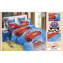 4 in 1 Set High Quality 800TC Disney Cars Bedding Bedsheet Super Single Size