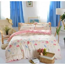 6 in 1 Set 800TC Flower Floral Design Bedding Bed Sheet Queen King Size