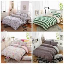 5 in 1 Set Quality 800TC Standard Design Bedding Bed Sheet Super Single Size