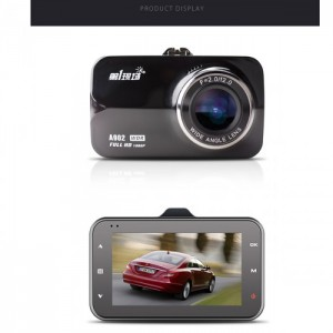 First Scene A902 3.0 inch 1080P Full HD 170 Wide-Angle Car DVR Camera Video Recorder - Black
