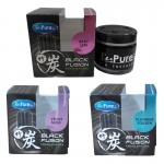 BE PURE Black Fushion Charcoal Gel Car/Office/Home Perfume Air Freshener