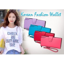 korean fashion clip wallet (Blue)
