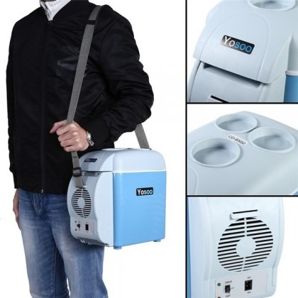 2-in-1 Cooling & Warming Mini Portable 7.5L Car Fridge Refrigerator