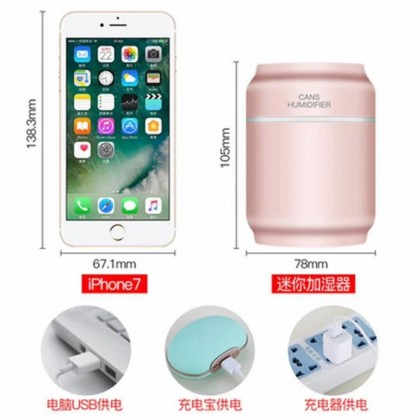 Mini Humidifier 3-in-1 Portable Mist Maker Humidifier with USB Fan, LED Light