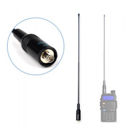 NAGOYA NA-771 Dual Band Antenna For BAOFENG/KENWOOD Walkie Talkie SMA Female 15.6''