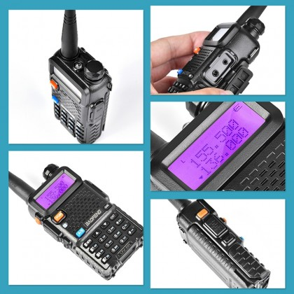 BAOFENG UV5R Dual Band Handheld Walkie Talkie 5W 128CH UHF VHF Radio Station [A]