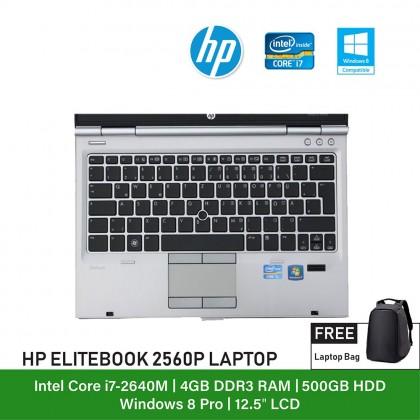 (Refurbished Notebook) HP Elitebook 2560P Laptop / 12.5 inch Display / Intel Core i7 / Windows 7