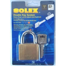 SOLEX Premium Double Key System Padlock 40mm 50mm (BRASS)