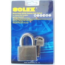 SOLEX Stainless Steel Marine Grade 40mm - 60mm Padlock (For Extreme Wet Condition)