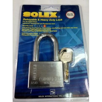 SOLEX Premium R-CRL Padlock 40mm - 70mm (CHROME)