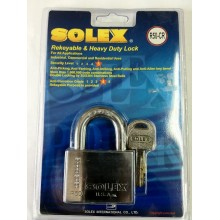 SOLEX Premium R-CR Padlock 35mm - 70mm (CHROME)