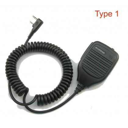 BAOFENG KENWOOD TYT Hand held PTT [A] Mic for Walkie Talkie Speaker Push To Talk Handsfree Two Way Radio