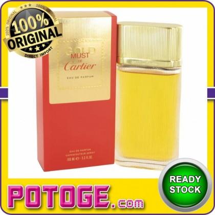 Cartier Must De Cartier Gold 100ml EDP (ORIGINAL AUTHENTIC PERFUME)
