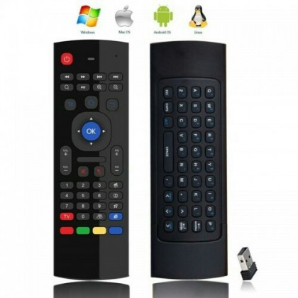 MX3 2.4G Smart Remote Control Airmouse Air Mouse Wireless Keyboard Android PC TV Box Mibox EVPAD UBOX [A]