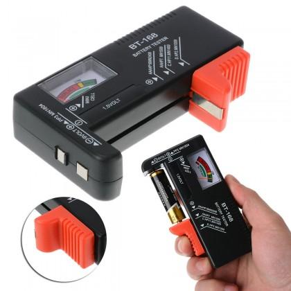 BT-168 / BT-168D [A] Portable Universal Battery Tester Tool AA AAA C D 9V Button Checker Accessory Test Balance