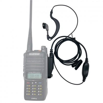 BAOFENG UV9R Plus Headset [A] BF UV-9R / A58 / 9700 PTT Earpiece Earphone Mic Walkie Talkie VHF UHF Radio Accessories
