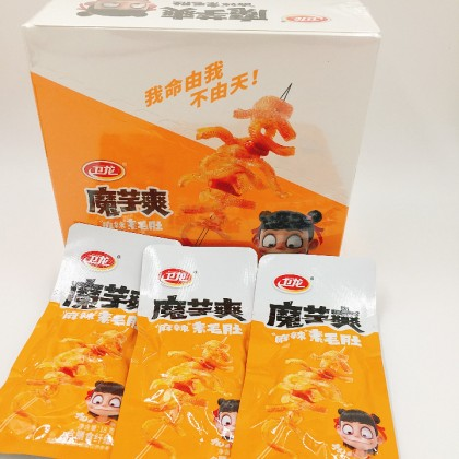 卫龙魔芋爽18g*20包 毛肚多种混合口味 麻辣/香辣/酸辣 网红零食休闲食品盒装 WeiLong Moyu Spicy Snacks 18g*20pcs