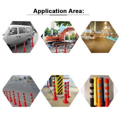 75cm Traffic Cone Safety Cone Flexible Pole Delineator Post Flexible Post TPU Material JKR Highway Road Lane Block