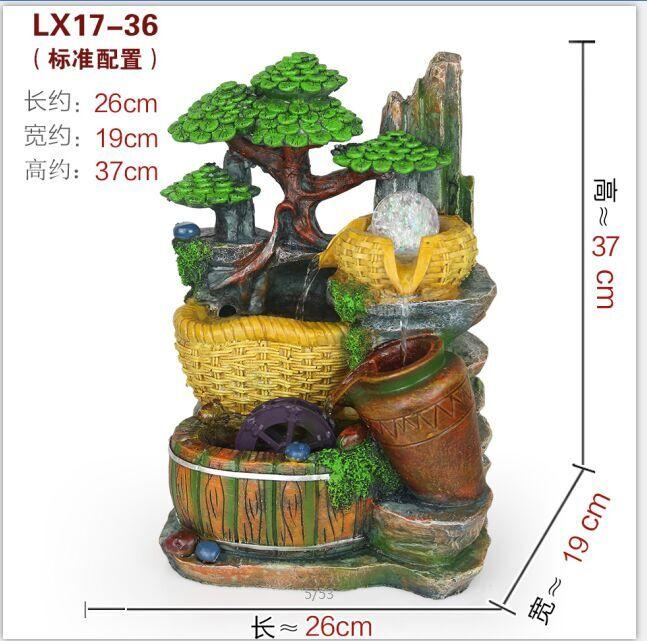 FENG SHUI WATER FOUNTAIN - MEDIUM 17-36 HOME OFFICE DECORATION