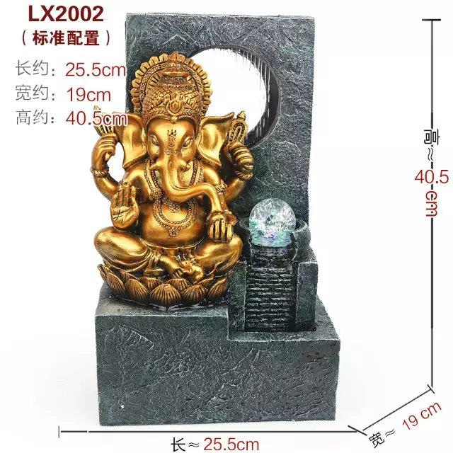 HINDU FENG SHUI WATER FOUNTAIN - GANESHA GOD 2002 DECORATION