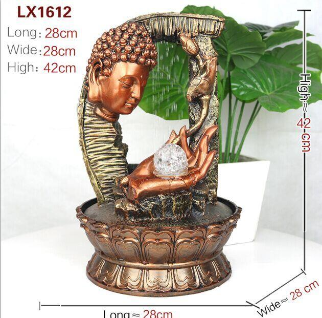 CHINESE FENG SHUI WATER FOUNTAIN - BUDDHA 1612 HOME DECORATION