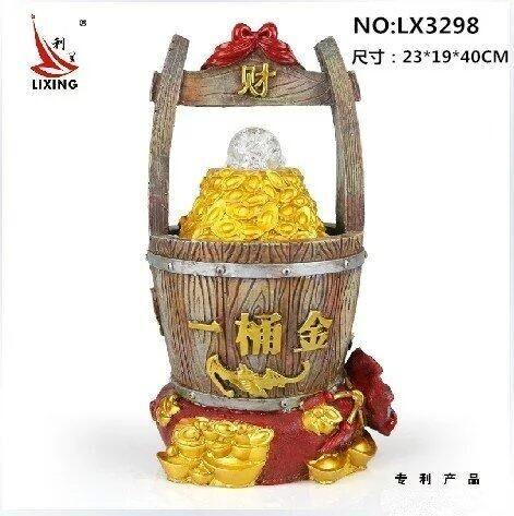 CHINESE FENG SHUI WATER FOUNTAIN LX3298 一桶金 HOME DECORATION