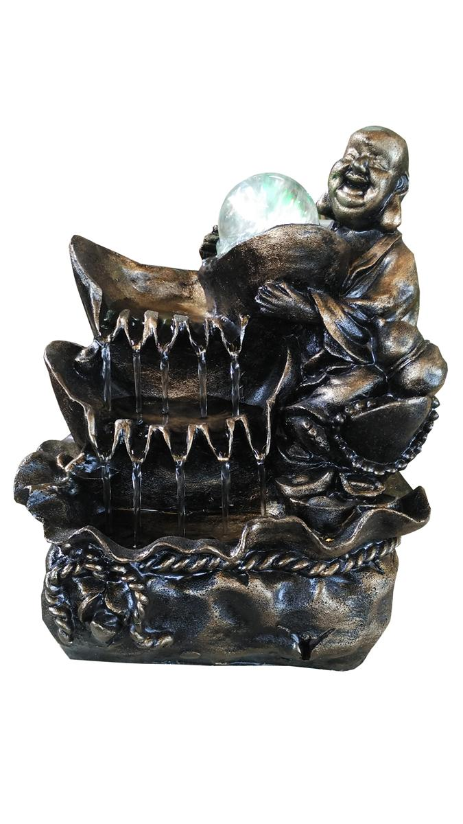 FENG SHUI CHINESE WATER FOUNTAIN - LAUGHING BUDDHA 8066