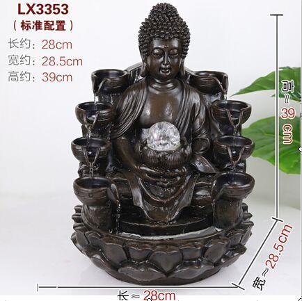 CHINESE FENG SHUI WATER FOUNTAIN - BUDDHA LX3353 - BLACK COLOUR