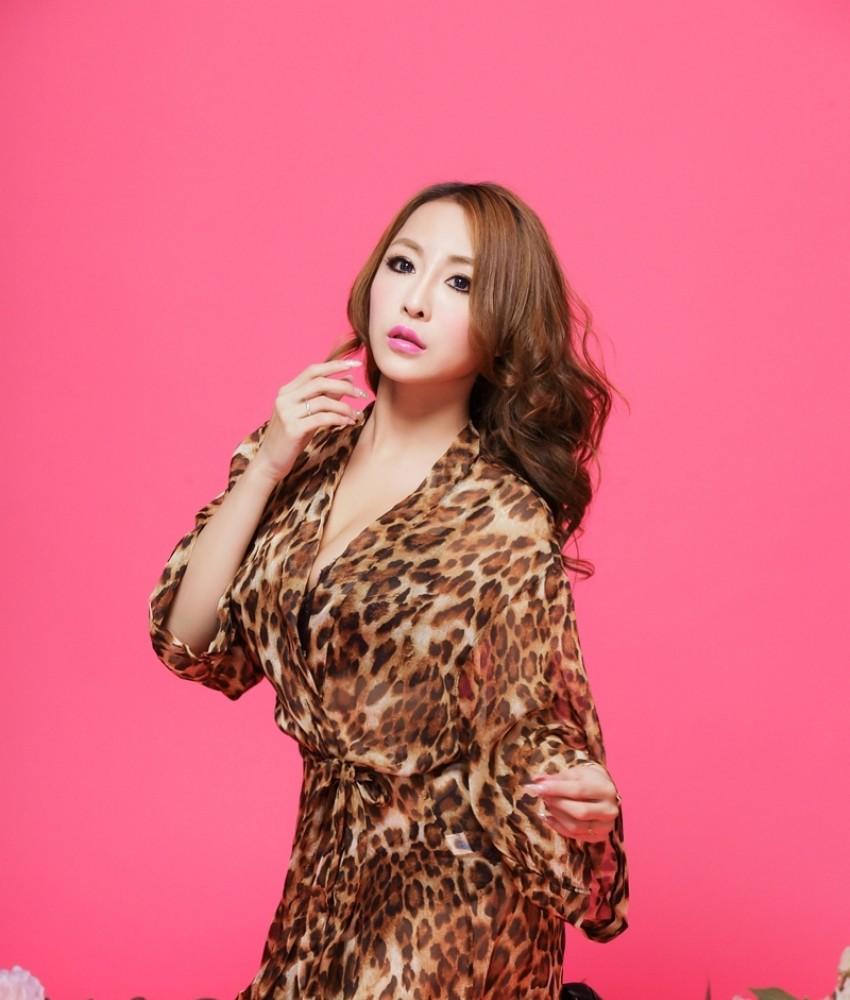 Sexy Wild Leopard Robes with Bikini YW6233