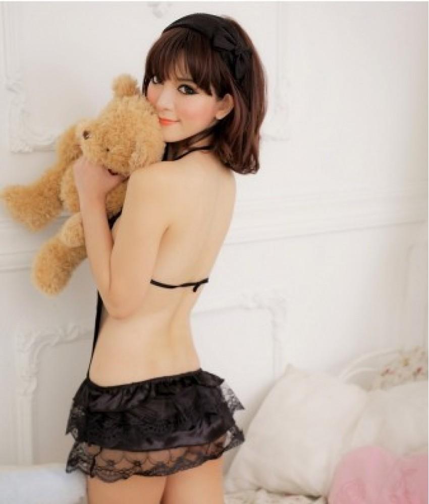 Sexy Black Sheer Babydoll YW217BK