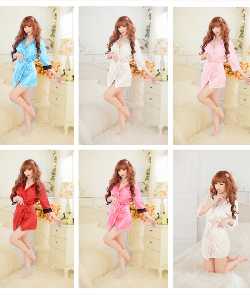 Sexy Blue Romance Japanese Robes K0023BL