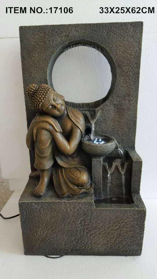 FENG SHUI WATER FOUNTAIN - BUDDHA 17106 FEATURE HOME DECO GIFT