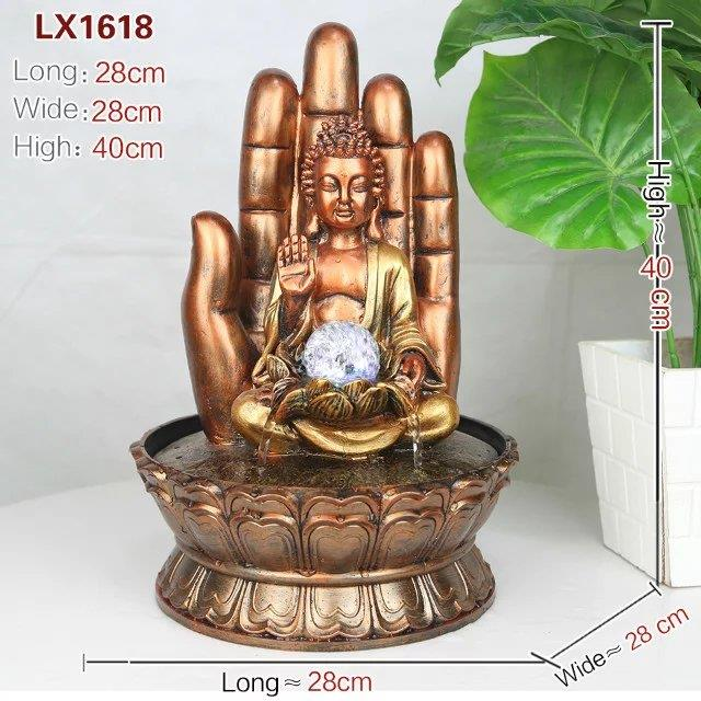 FENG SHUI WATER FOUNTAIN DECO - BUDDHA 1618 HOME DECORATION