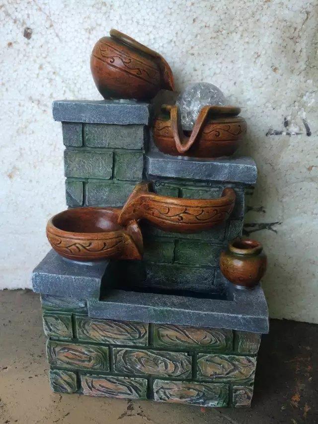 Feng shui water fountain 1644 pot home decoration for Water feature feng shui