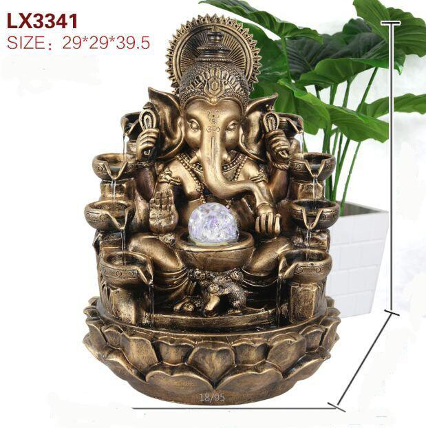 WATER FOUNTAIN - GANESHA 3341  - BRONZE COLOUR FEATURE DEORATION GIFT