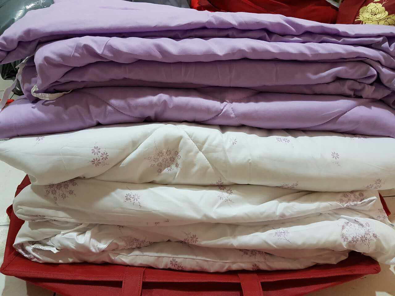6 in 1 Set Quality 800TC Sea Blue Bedding Bed Sheet Queen King Size