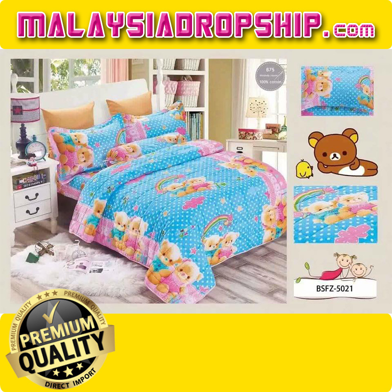 Exceptionnel 4 In 1 Set High Quality 800TC Rilakkuma Bedding Bed Sheet Super Single Size